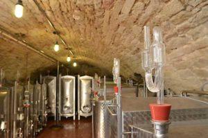 Dann beginnt der Weinausbau im Keller.