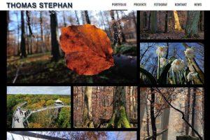 Website des Naturfotografen Thomas Stephan aus Munderkingen