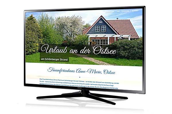 Realisierung einer Onepage-Website für Ferienhaus an der Ostsee