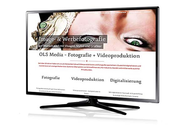 Website für Foto-Video-Agentur